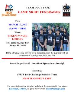Game Night Fundraiser